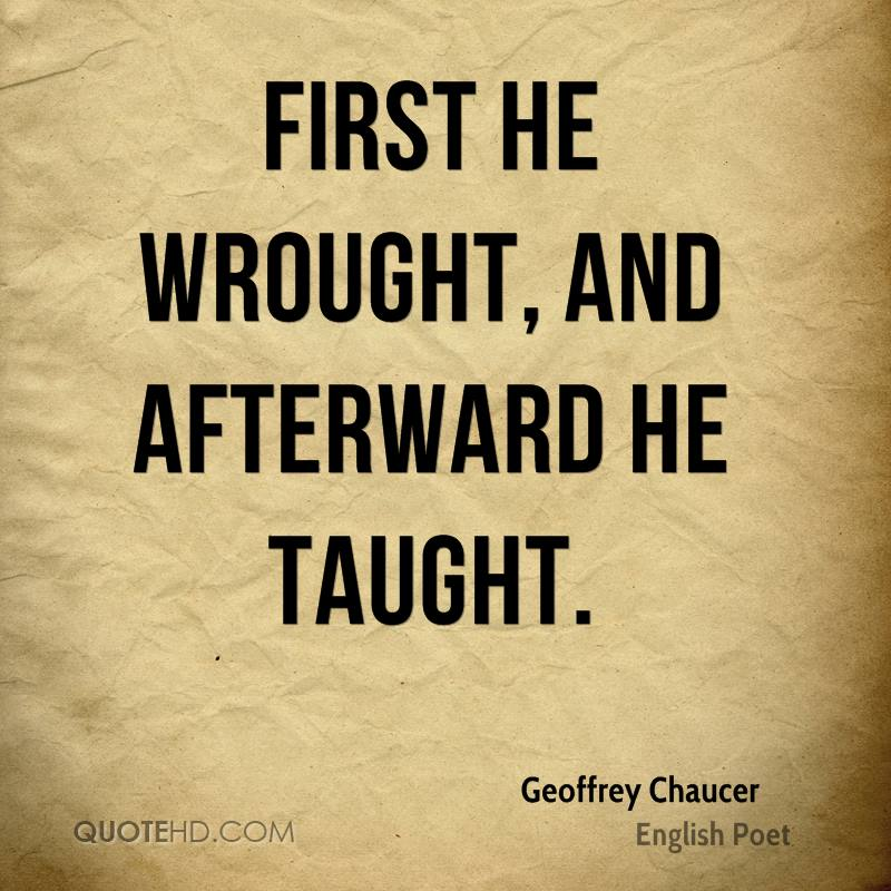 the influence of geoffrey chaucer on my success