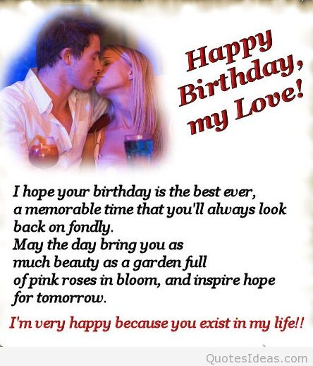 Quotes About Birthday My Love 48 Quotes