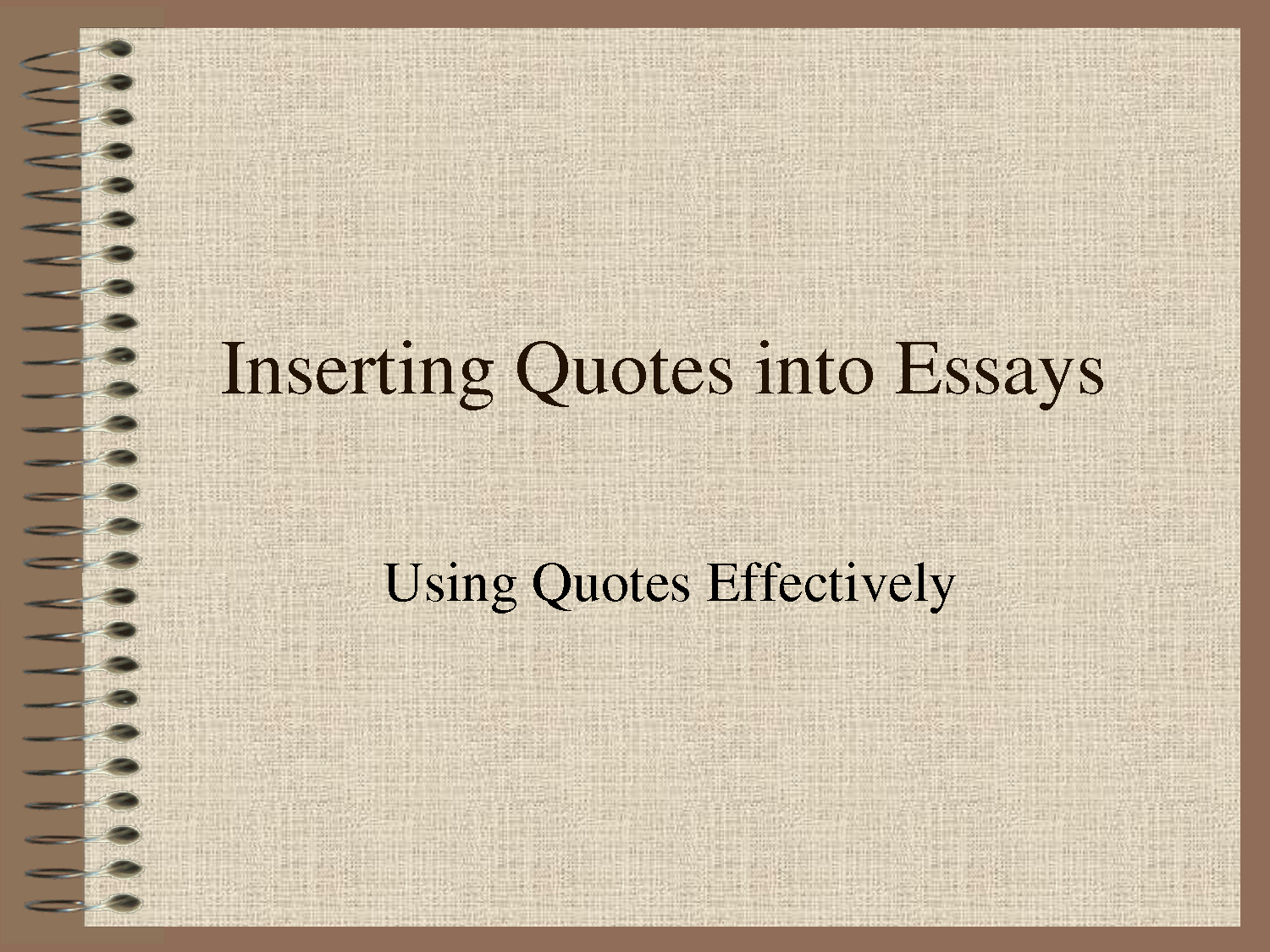 putting long quotes in an essay