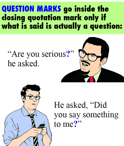 Does Question Mark Go Inside Quotes