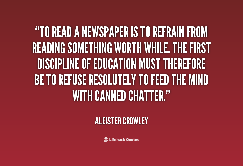Quotes About Reading The News 61 Quotes