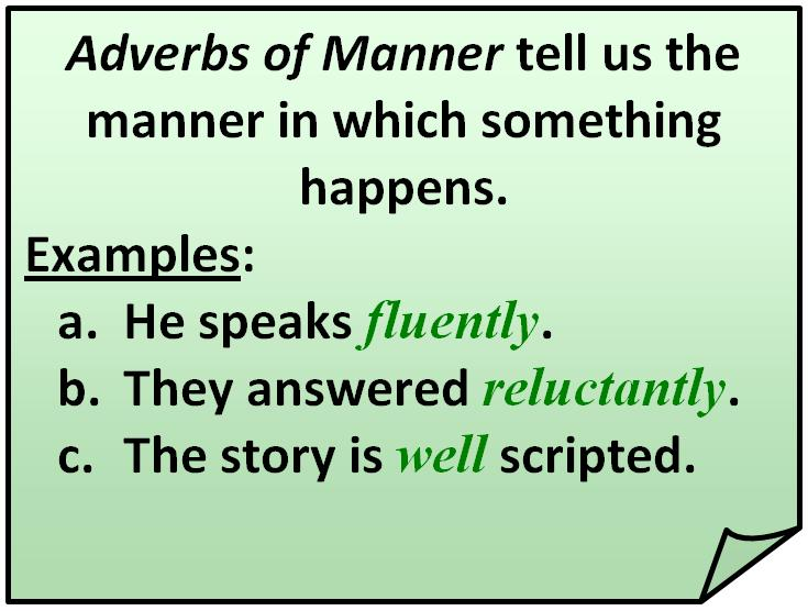 Examples Of Adverb Of Manner Image Collections Example Cover