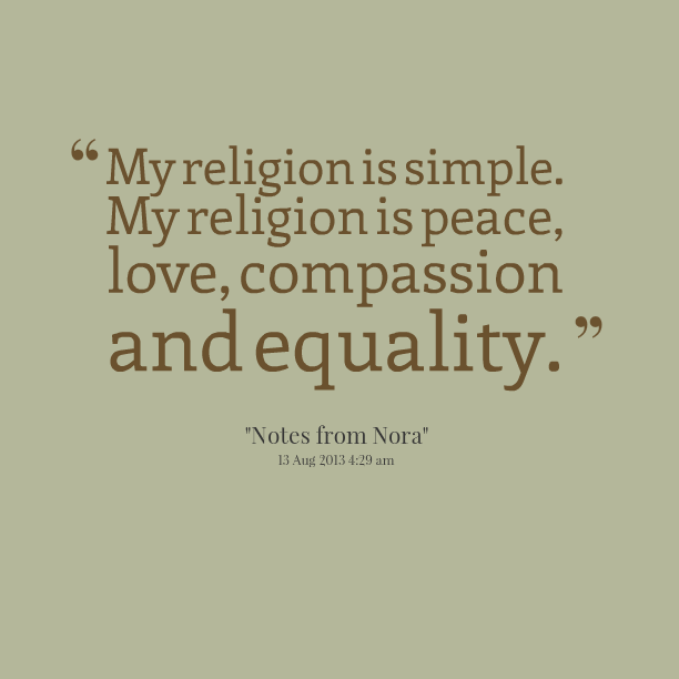 Quotes About Peace Religion 64 Quotes