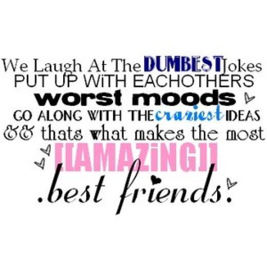 Quotes about Best friends humor (22 quotes)