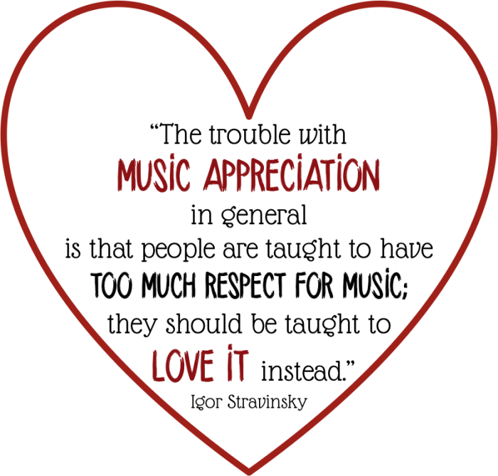 Quotes about Music appreciation (34 quotes)