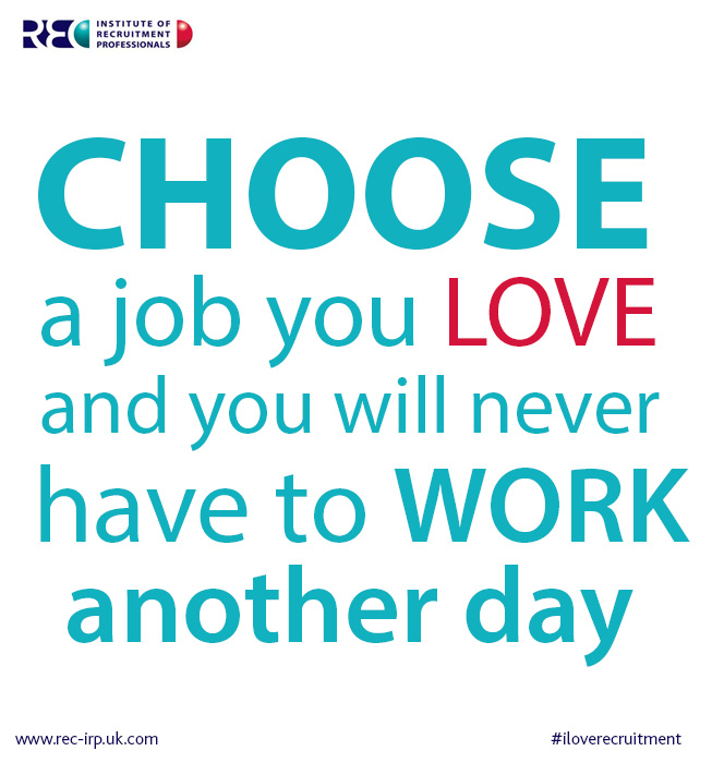Quotes about Love your job (73 quotes)