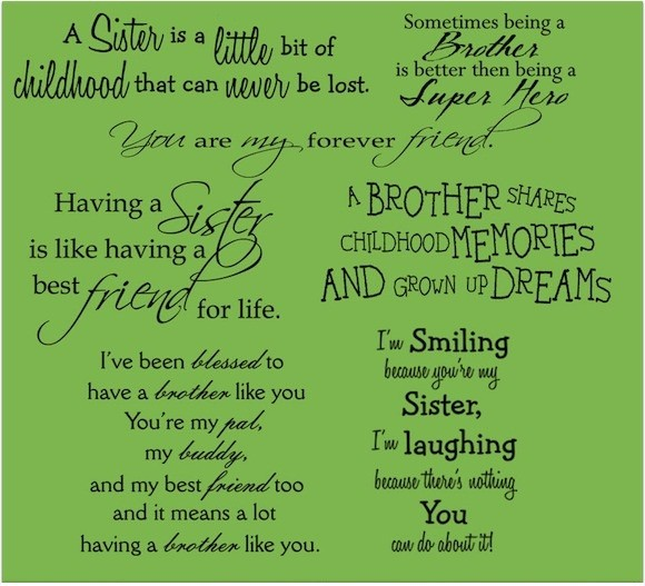 quotes about siblings brother and sister quotes