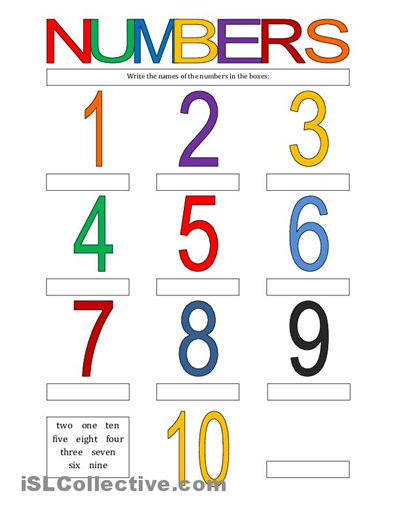 Cool Counting Numbers From 10 To English For Kids Worksheets Repin