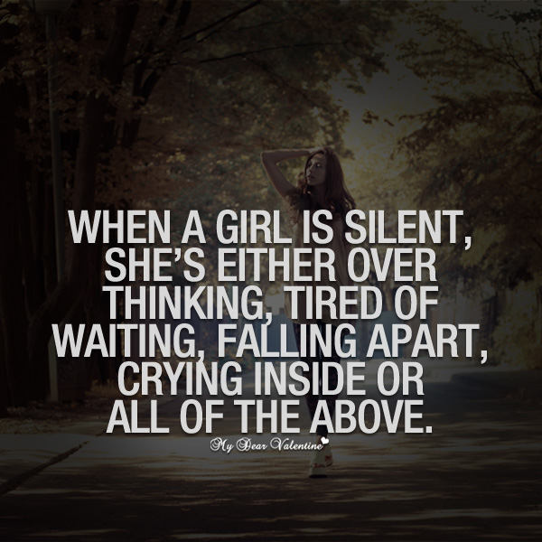 when she goes silent