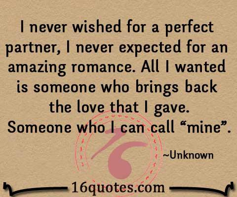 perfect partner essay