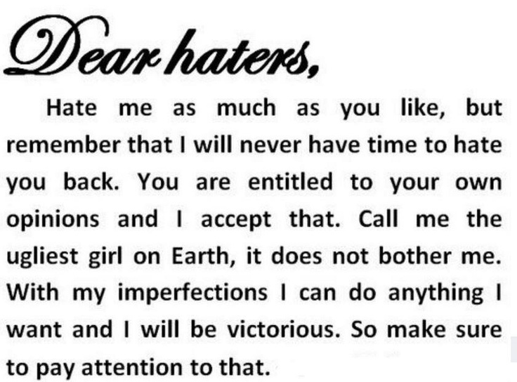 Quotes About Having Haters 47 Quotes