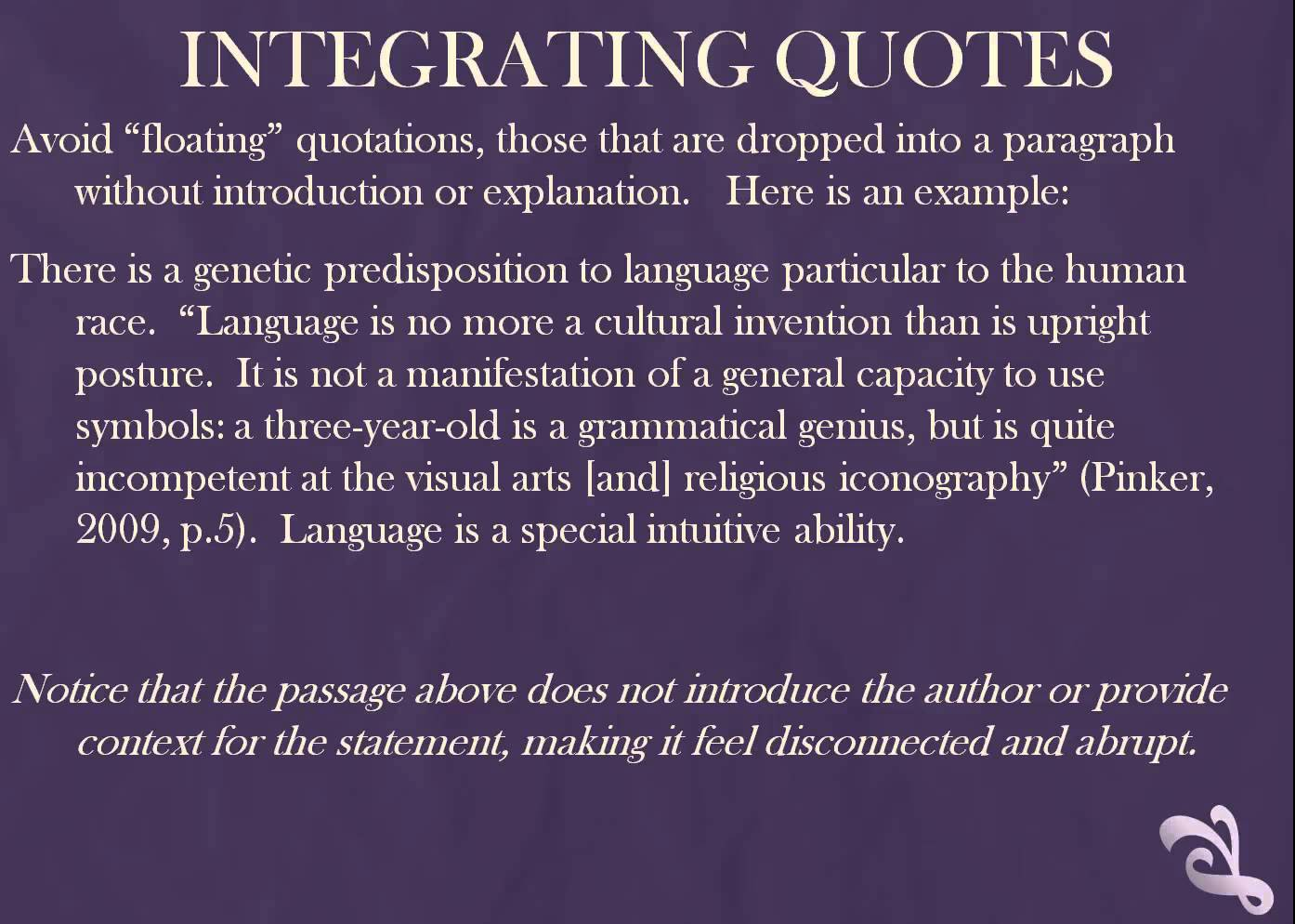 "quotation integration Quotation""thisbookexplorestheincreasingdividebetweentheyoungandthenaturalworld, andthe microsoft word - quotation & citation integrationdocx author."