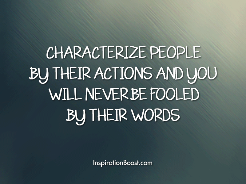 CHARACTERIZE PEOPLE By THEIR ACTIONS AND yoo