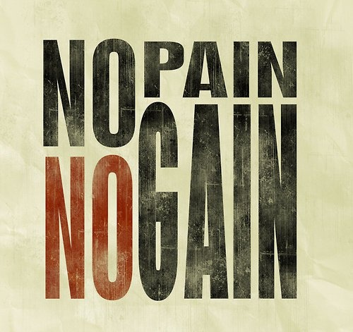 essay on the proverb-no pain no gain No pain, no gain (or no gain without pain) is an exercise motto that promises greater value rewards for the price of hard and even painful work under this conception competitive professionals such as athletes and artists are required to endure pain and pressure to achieve professional excellence.