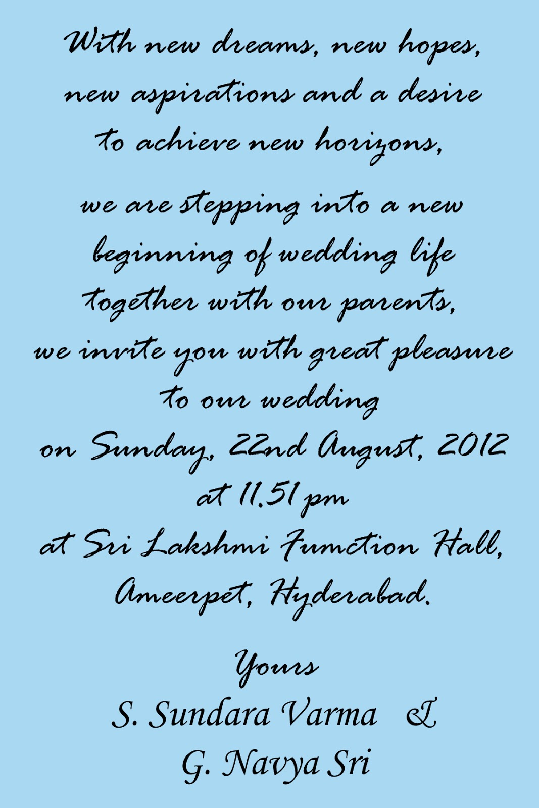 Indian Wedding Reception Invitation Quotes For Friends