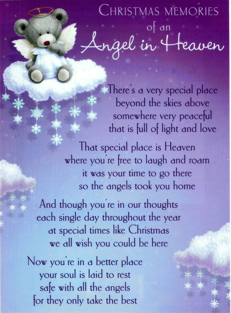 Merry Christmas In Heaven Poems 2018 For Mom And Dad Merry