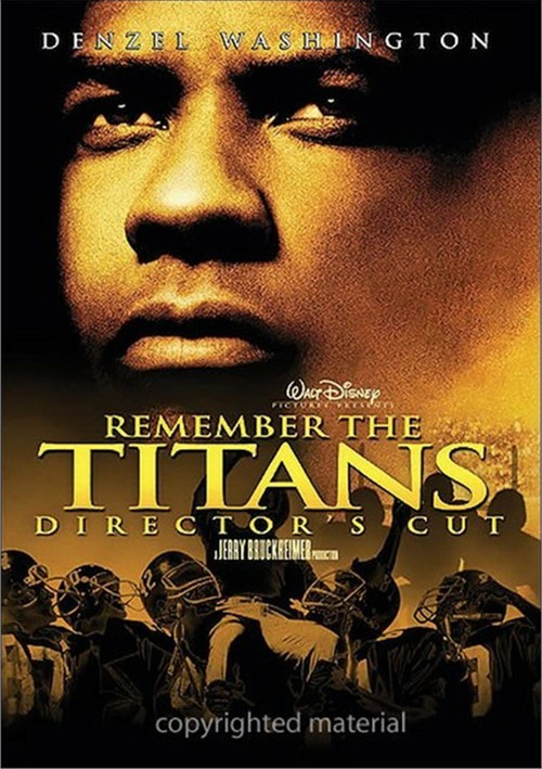 essay movie remember titans Remember the titans is a film from 2000 displaying a true story of a racially divided football team from the 1970s the movie highlights the relationships of the black and white people, and how they learned to interact with each other in a time when this was not the way of life it brings up a.