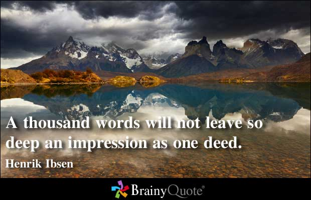 Quotes About Deeds Not Words 60 Quotes