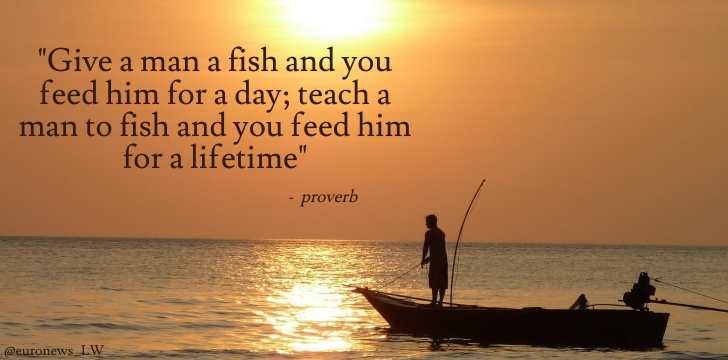 Quotes about Teaching how to fish (12 quotes)