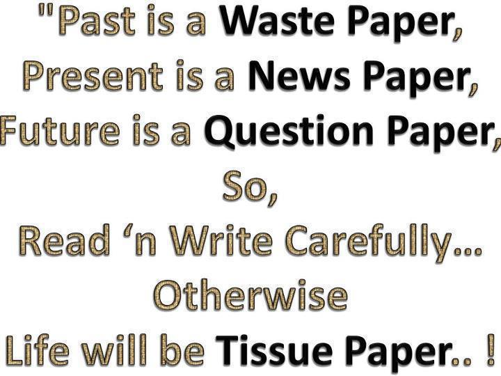 past present and future paper