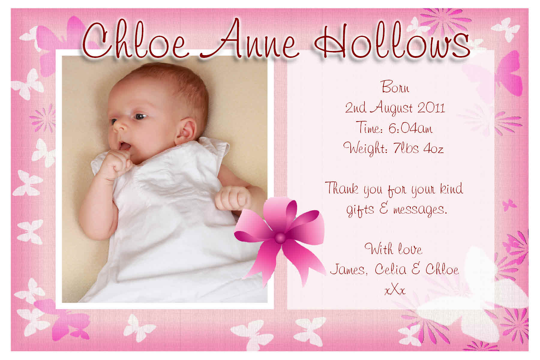 baby girl photo birth announcements hola klonec co