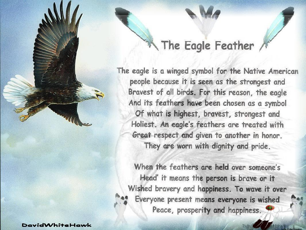 The Eagle Feather Is A Winged Symbol For Native American People Because It