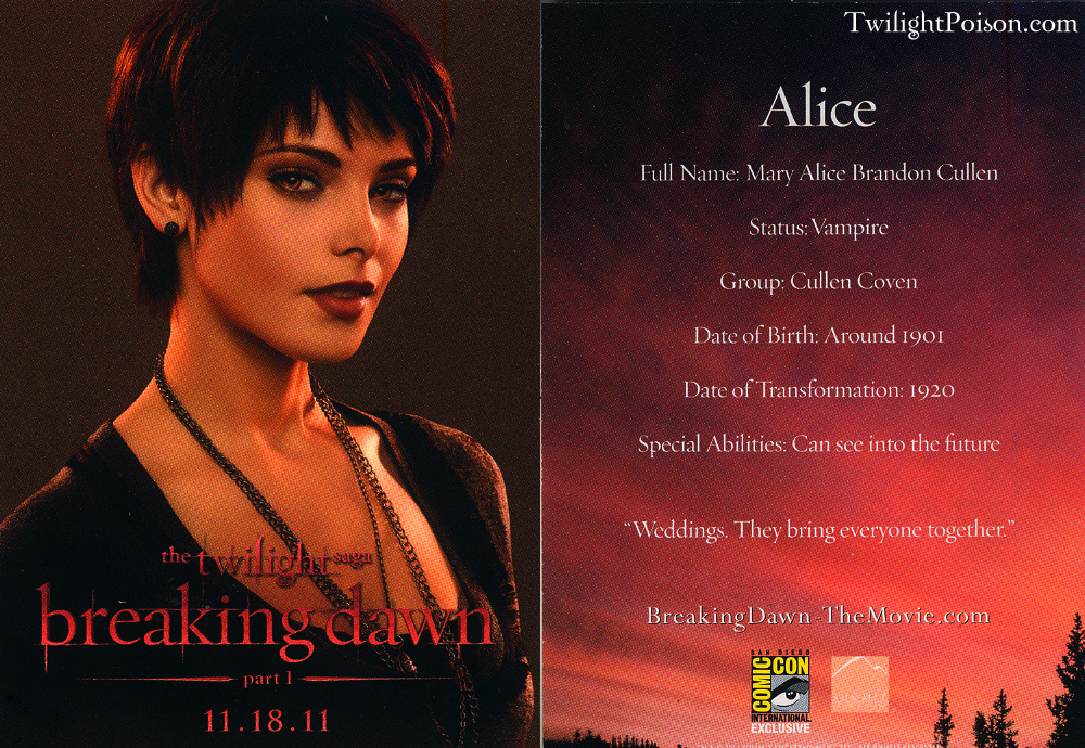 Quotes about Alice Cullen (28 quotes)