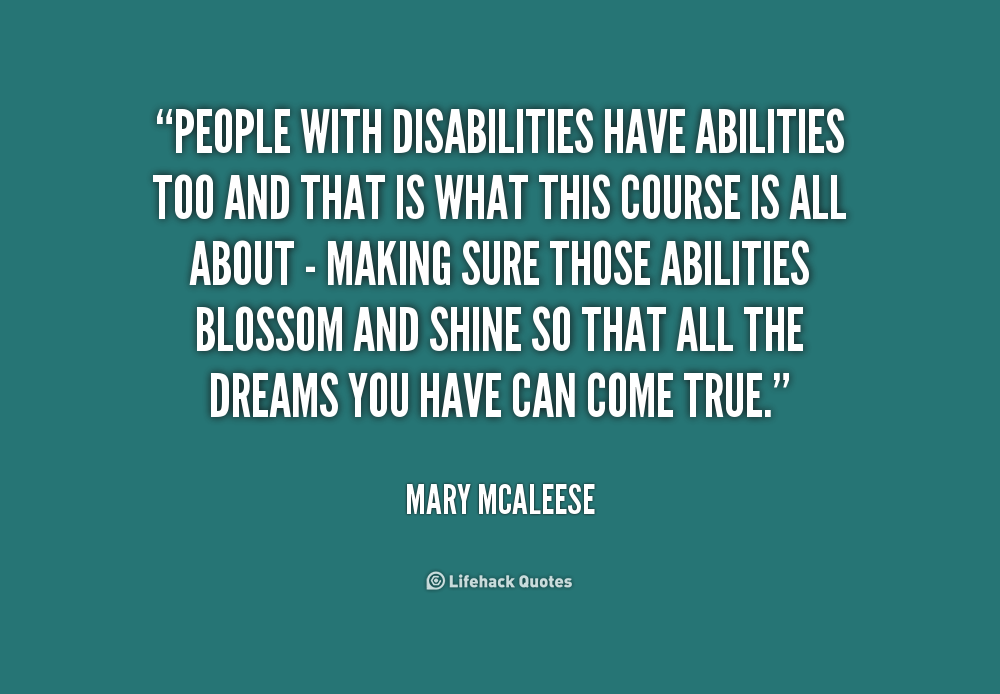 Quotes About Disabilities Entrancing Quotes About Disabilities Interesting Best Disability Quotes