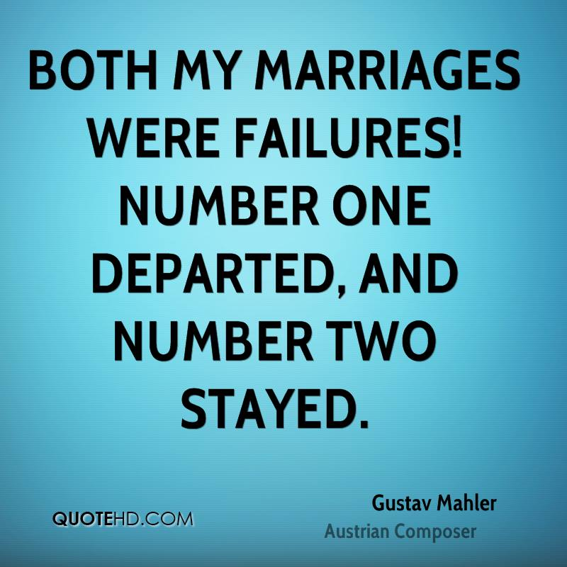 Quotes about Failure of marriage (58 quotes)