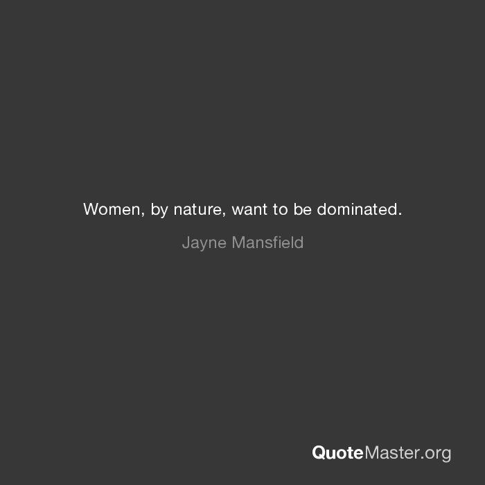 want to be dominated