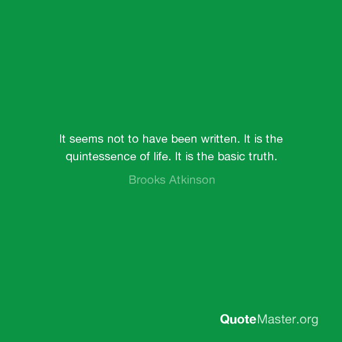 what is the quintessence of life