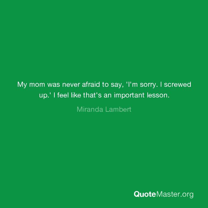 I screwed my mom