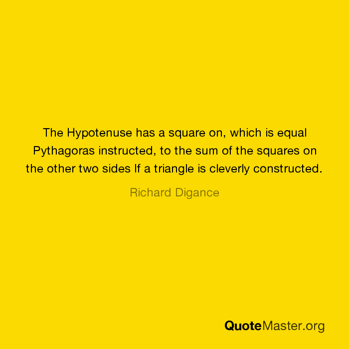 the square of hypotenuse is equal to the sum of the squares of the other two sides knowledge or beli