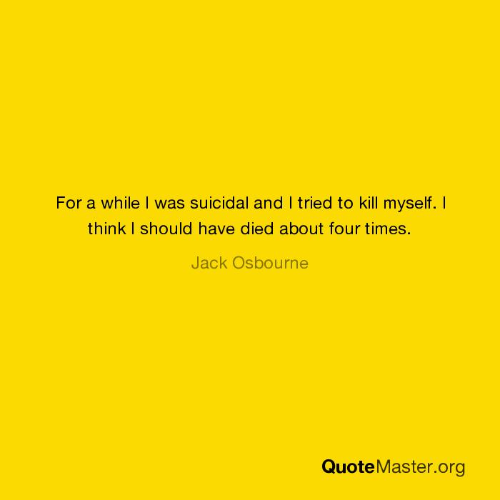 Myself i kill where should Suicide methods