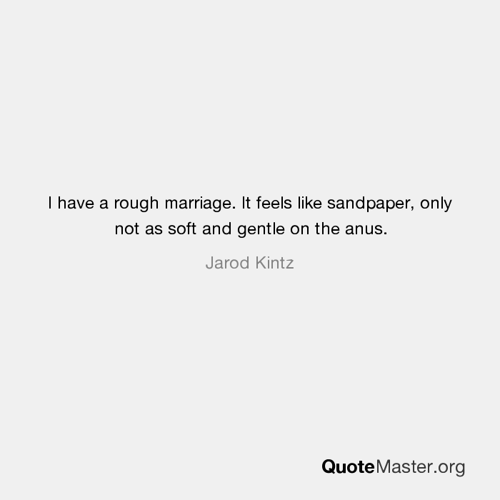 Anus feels like sandpaper