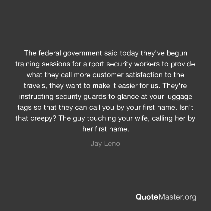 The federal government said today they've begun training sessions