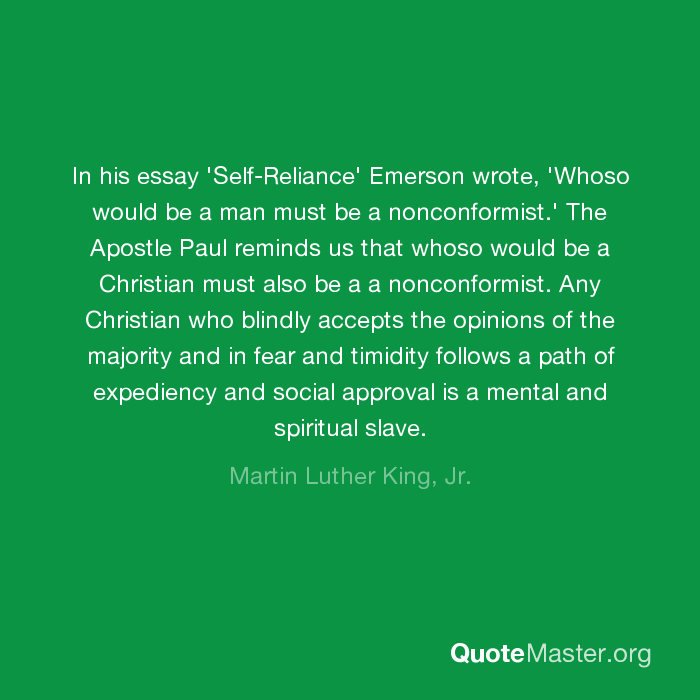 self reliance emerson translation
