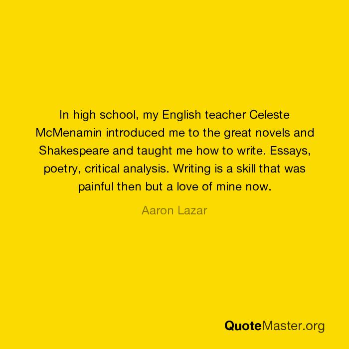 write english essay shakespeare