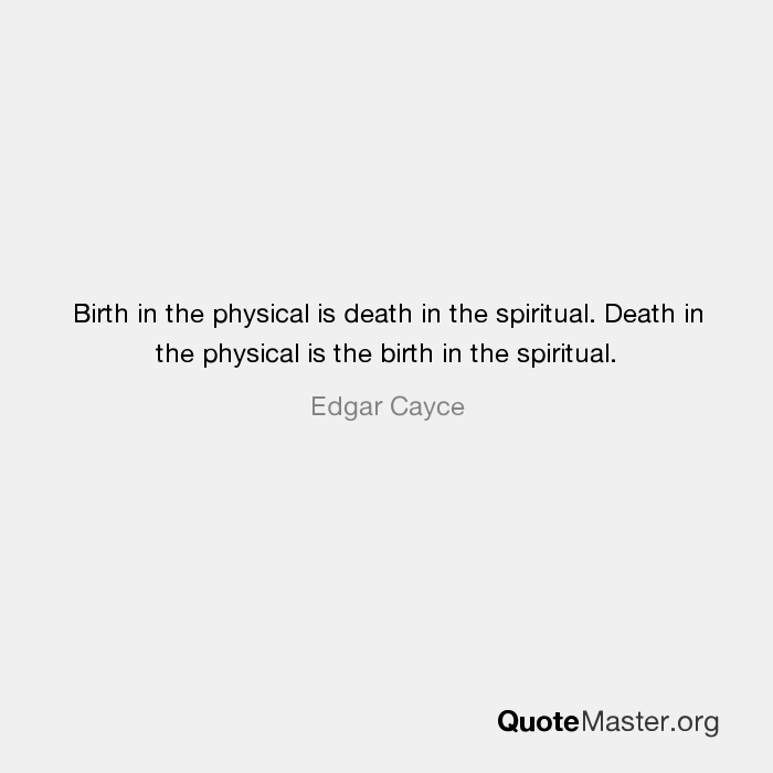 Edgar Cayce On Death