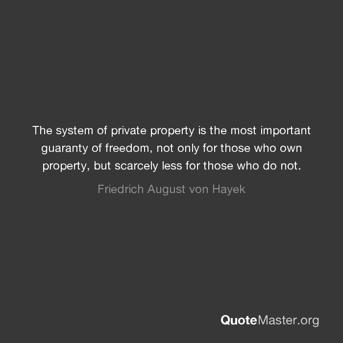 Why Is Private Property Important