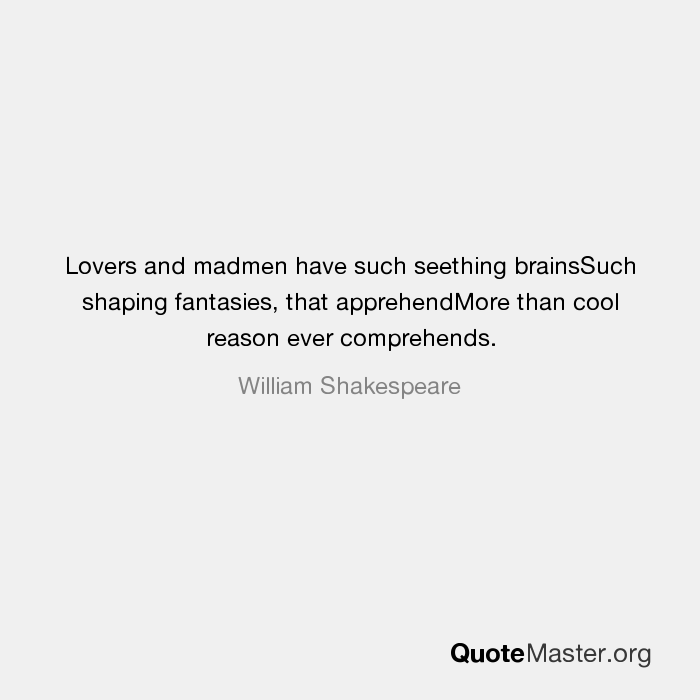 lovers and madmen shakespeare