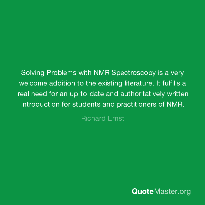 solving nmr problems