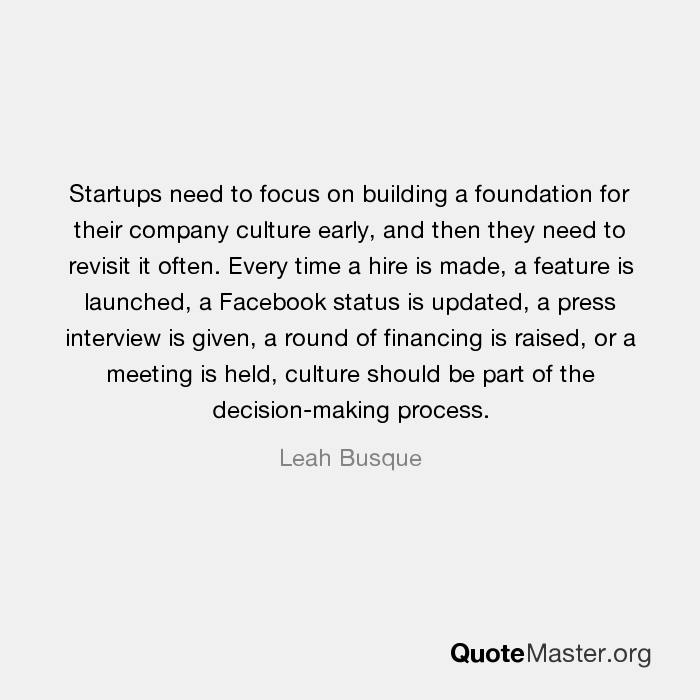 Startups need to focus on building a foundation for their