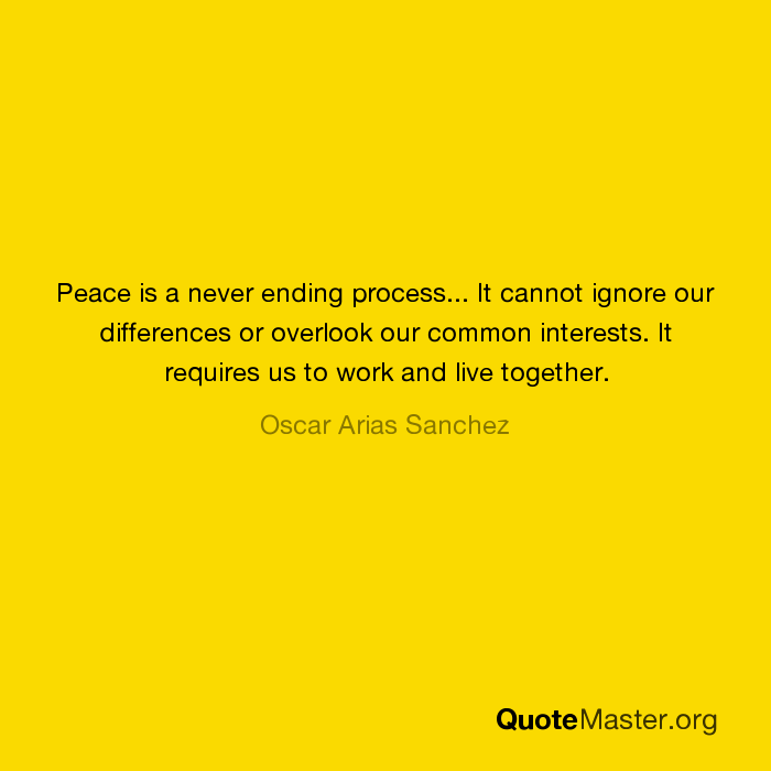 peace is never ending process