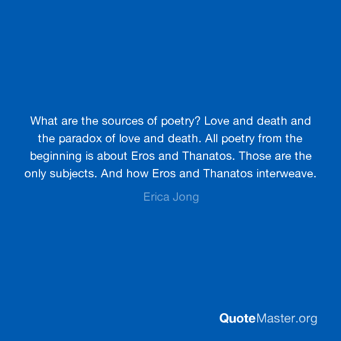 poetry and death