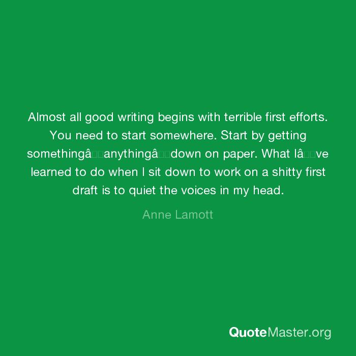 shitty first drafts anne lamott