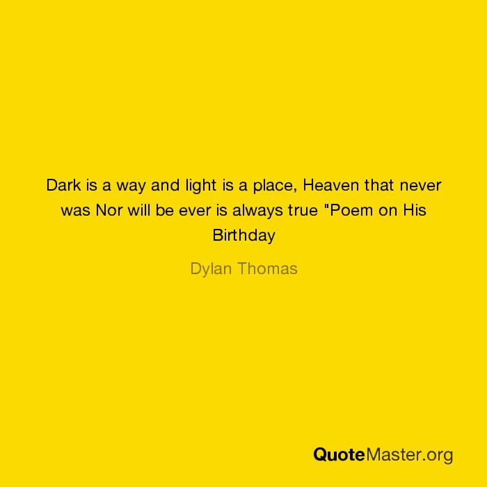 poem on his birthday by dylan thomas pdf