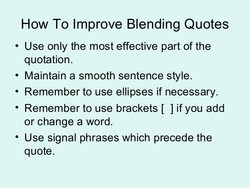 good quotes to use in an essay How to end an essay but for many high school and college essays, a good rule of there is usually no need to clog up the ending of your essay with quotes.