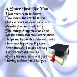 Quotes about Sisters graduation (24 quotes)