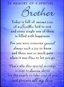 Quotes about Missing brother (9 quotes)